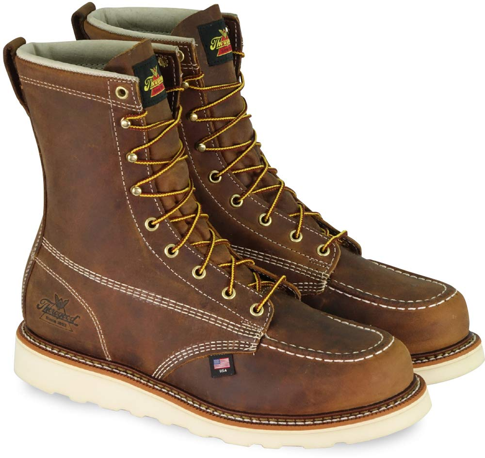"Thorogood Men's American Heritage 8"" Moc Toe, MAXwear Wedge Non-Safety Toe Boot"