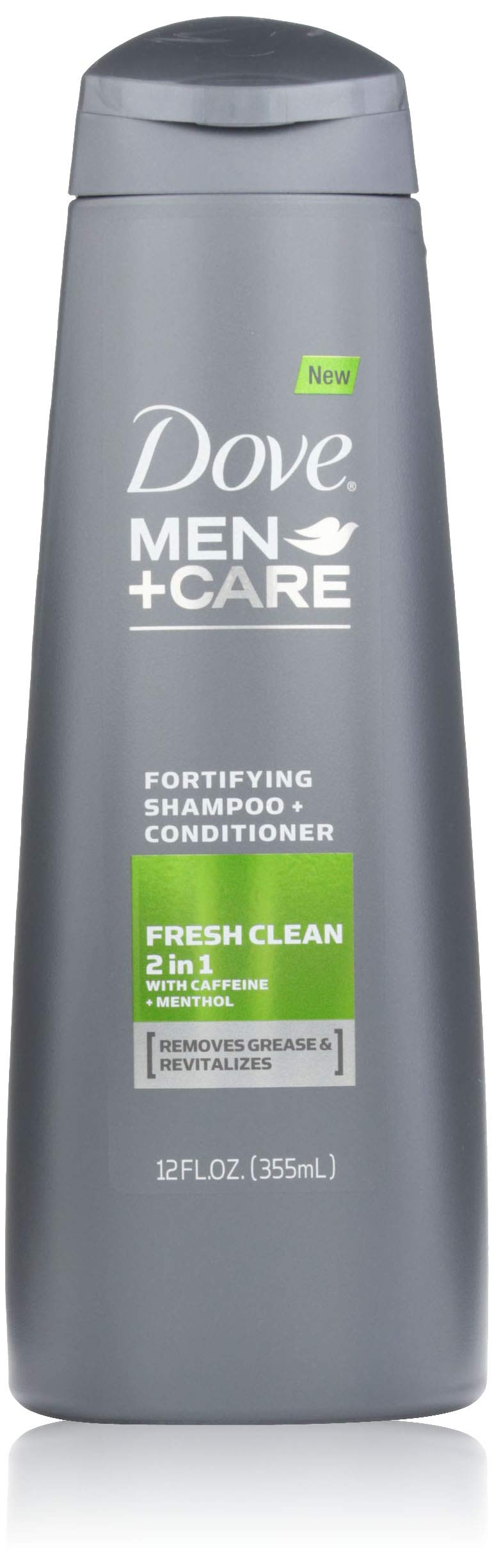 Dove Men+Care 2 in 1 Shampoo and Conditioner, Fresh and Clean 12 Ounce