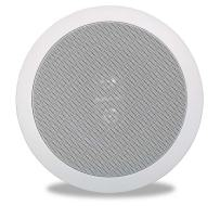 """Polk Audio RC6s In-Ceiling 6.5"""" Stereo Speaker   Dual Channel from a Single Location   Perfect for Damp and Humid Indoor/Outdoor Placement - Bath, Kitchen, Covered Porches (White, Paintable Grille)"""
