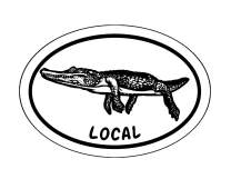 WickedGoodz Oval Alligator Local Decal - Florida Bumper Sticker - Perfect Southern Local Gift