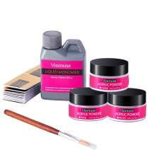 Viomuse Nail Polymer Acrylic Powder Kit includes 3 Polymer Powder, 1 Acrylic Liquid Monomer (color4)