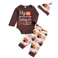 3PCS Clothes Set Newborn Toddler Baby Girl Ruffle Romper Bodysuit Floral Halen Pants Headband Outfit Long Sleeve Clothing
