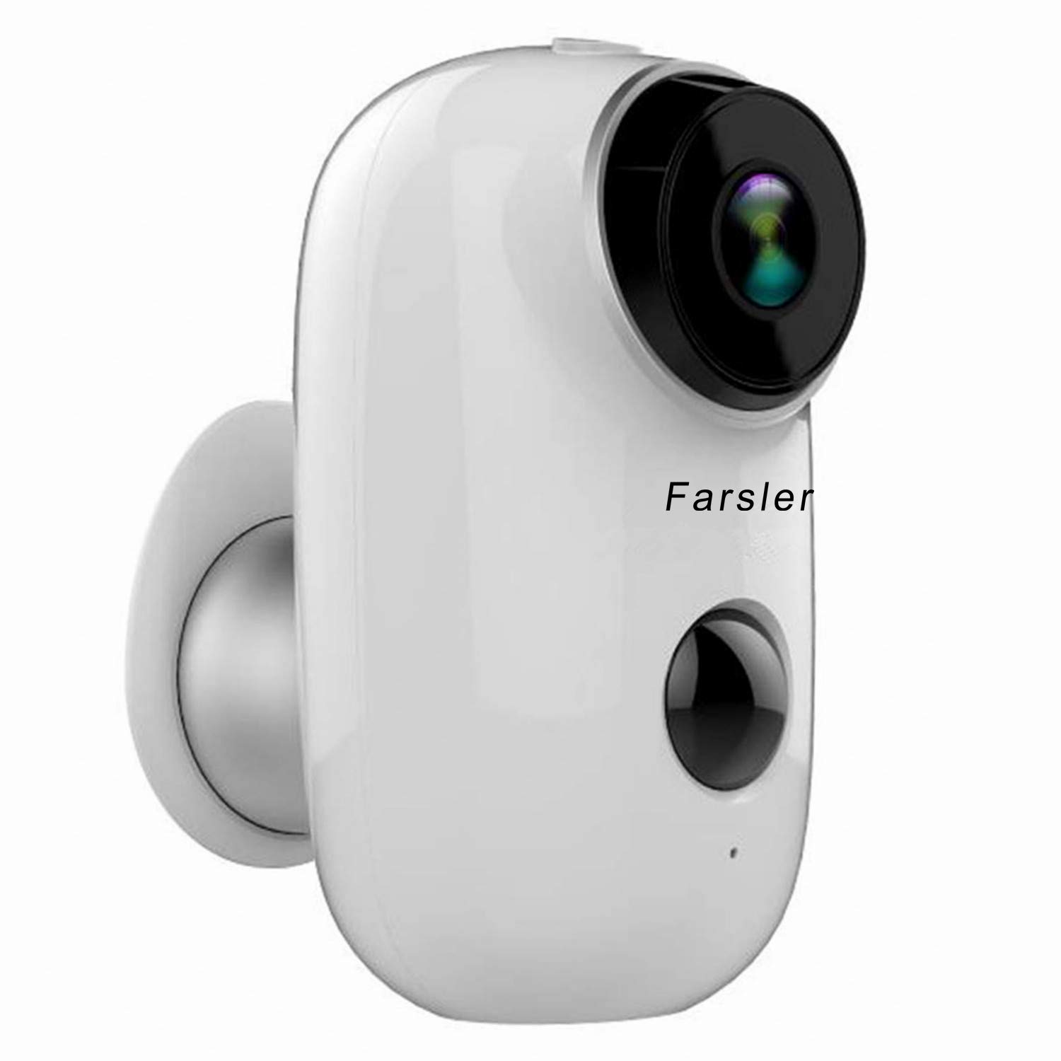 Farsler A3 Rechargeable Battery-Powered Camera Indoor/Outdoor Wireless Security Camera 1080p HD Wire-Free 2-Way Audio Night Vision Alarm Alert & PIR Motion Sensor w/Built-in SD Slot,Black
