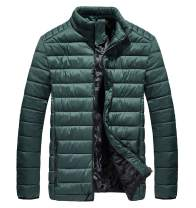 XIONG TAI Mens Ultra Lightweight Water-Resistant Bubble Packable Puffer Jacket Spring Outerwear Coat with Fleece Lining
