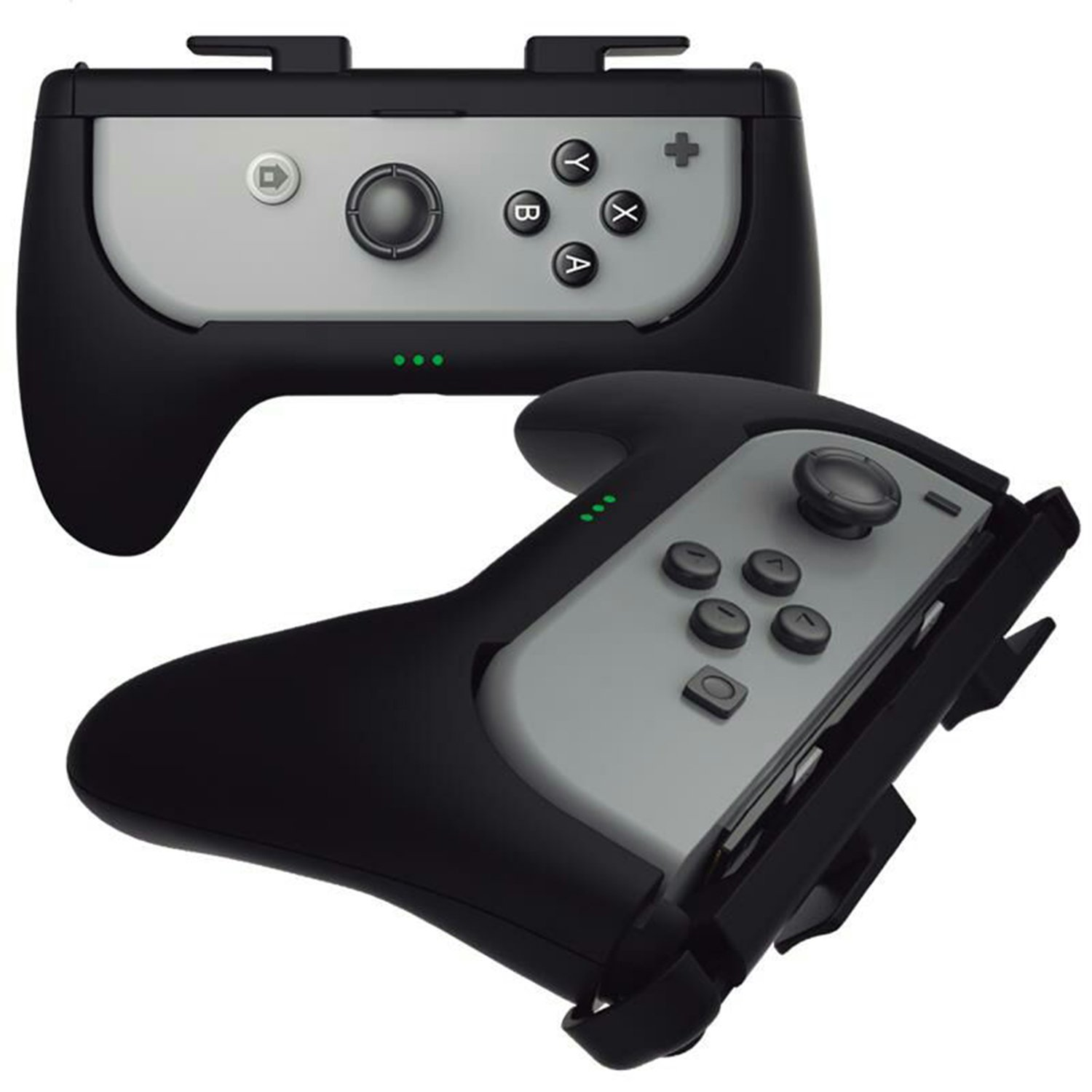 Sliq Gaming Nintendo Switch Joy Con Charge Grip (Black) - Controller Grip + Built-In Battery Pack - Adds Up To 5 Hours Of Battery Life While You Play