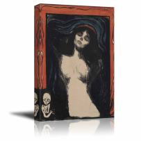 """wall26 - Madonna by Edvard Munch - Canvas Print Wall Art Famous Painting Reproduction - 16"""" x 24"""""""