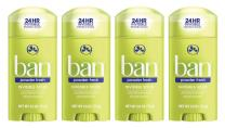 Ban Antiperspirant Deodorant, Invisible Solid, Powder Fresh, 2.6 Ounce (Pack of 4)