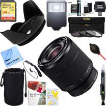 Sony (SEL2870 FE 28-70mm F3.5-5.6 OSS Full Frame E-Mount Lens + 64GB Ultimate Filter & Flash Photography Bundle