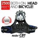 Heider CB1 Headlamp - BRIGHTEST AND BEST Flashlight for Reading Outdoor Running Camping Fishing Walking - 3 DIFFERENT adjustable LIGHT POWER Adjustable headlamp design - RECHARGEABLE BATTERIES AND CHARGER INCLUDED