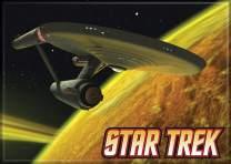 "Ata-Boy Star Trek Starship Enterprise 2.5"" x 3.5"" Magnet for Refrigerators and Lockers"
