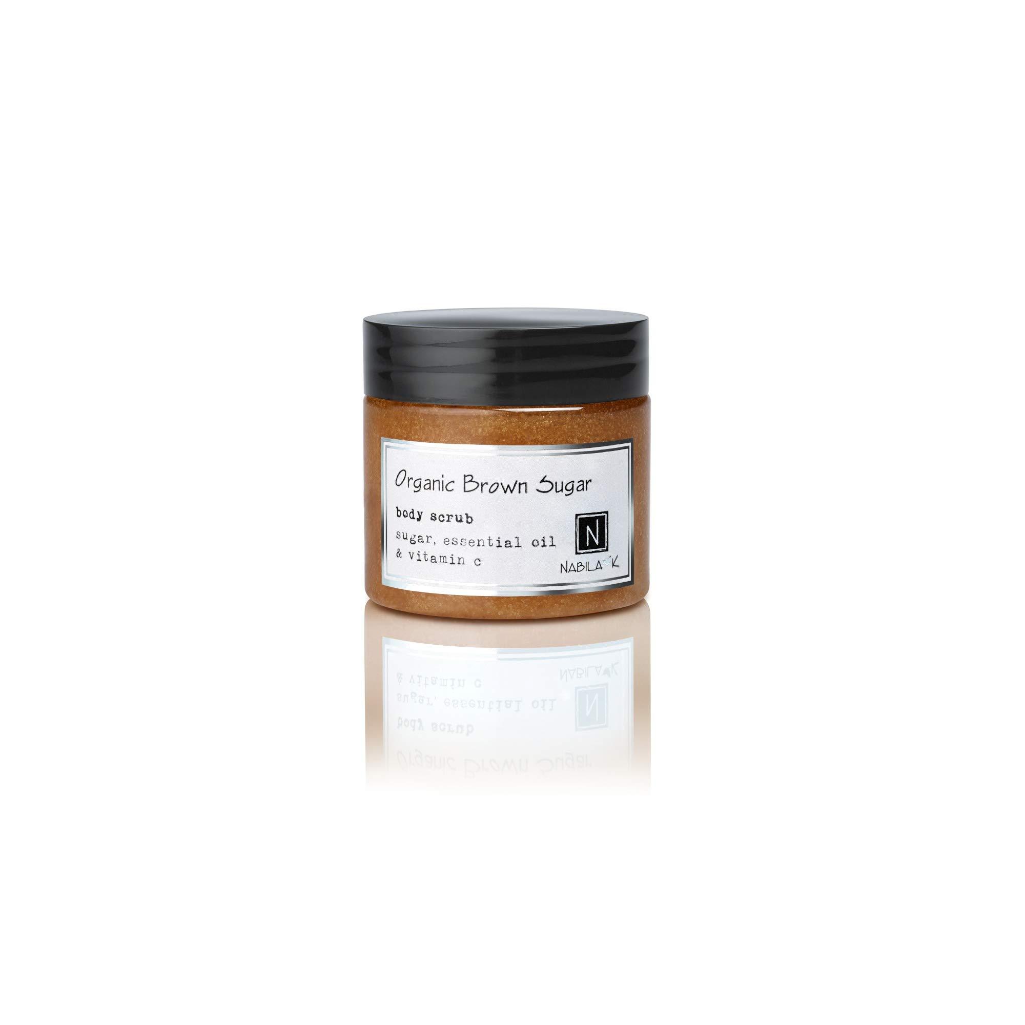 Organic Brown Sugar Body Scrub, Exfoliates & Moisturizes, 3oz