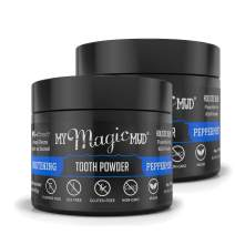 My Magic Mud - Whitening Tooth Powder, Polishing, Brightening, Charcoal, Peppermint, 1.06 oz. (2-Pack)