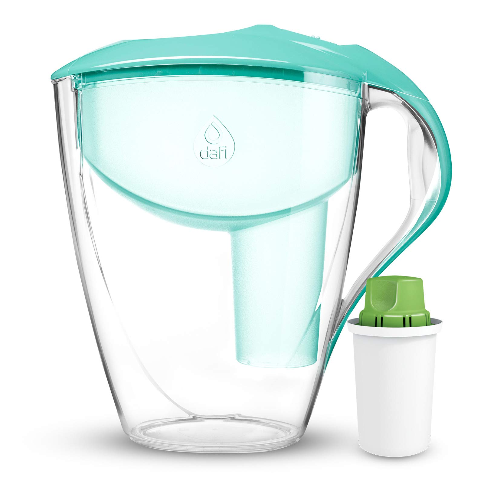 Dafi Alkaline UP Astra LED pH 12 Cup Filtered Water Pitcher Mint BPA-Free