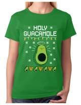 Tstars - Funny Avocado & Nachos Holy Guacamole Ugly Christmas Women T-Shirt