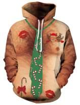 Goodstoworld Women/Men 3D Print Hoodies Teens Cool Graphic Sweatshirts Pockets S-XXXL