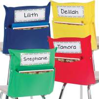 Really Good Stuff Store More Grouping Chair Pockets – Four Bright Rainbow Colors – Pocket Chair Organizer Keeps Students Organized and Classrooms Neat (Set of 8)