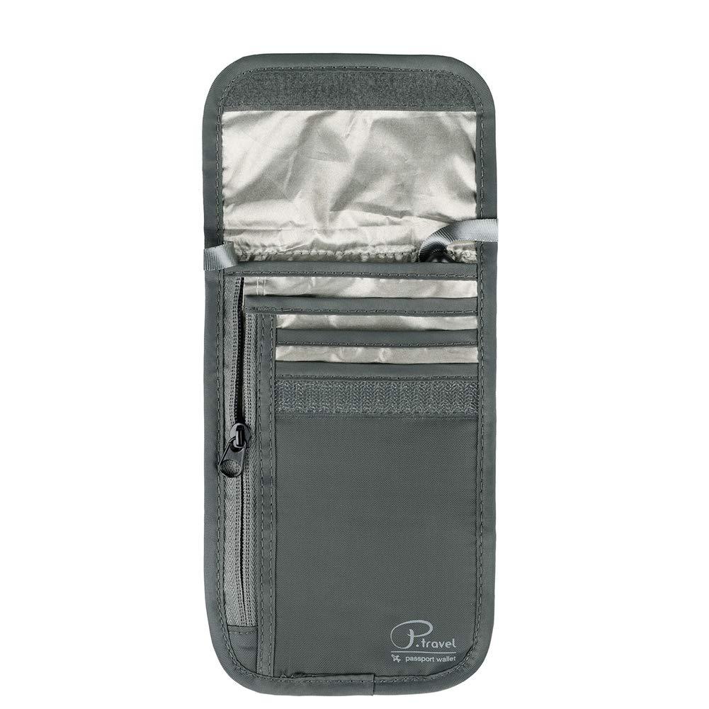 Travel Passport Wallet, RFID Blocking Travel Neck Pouch by VanFn P.Travel Series