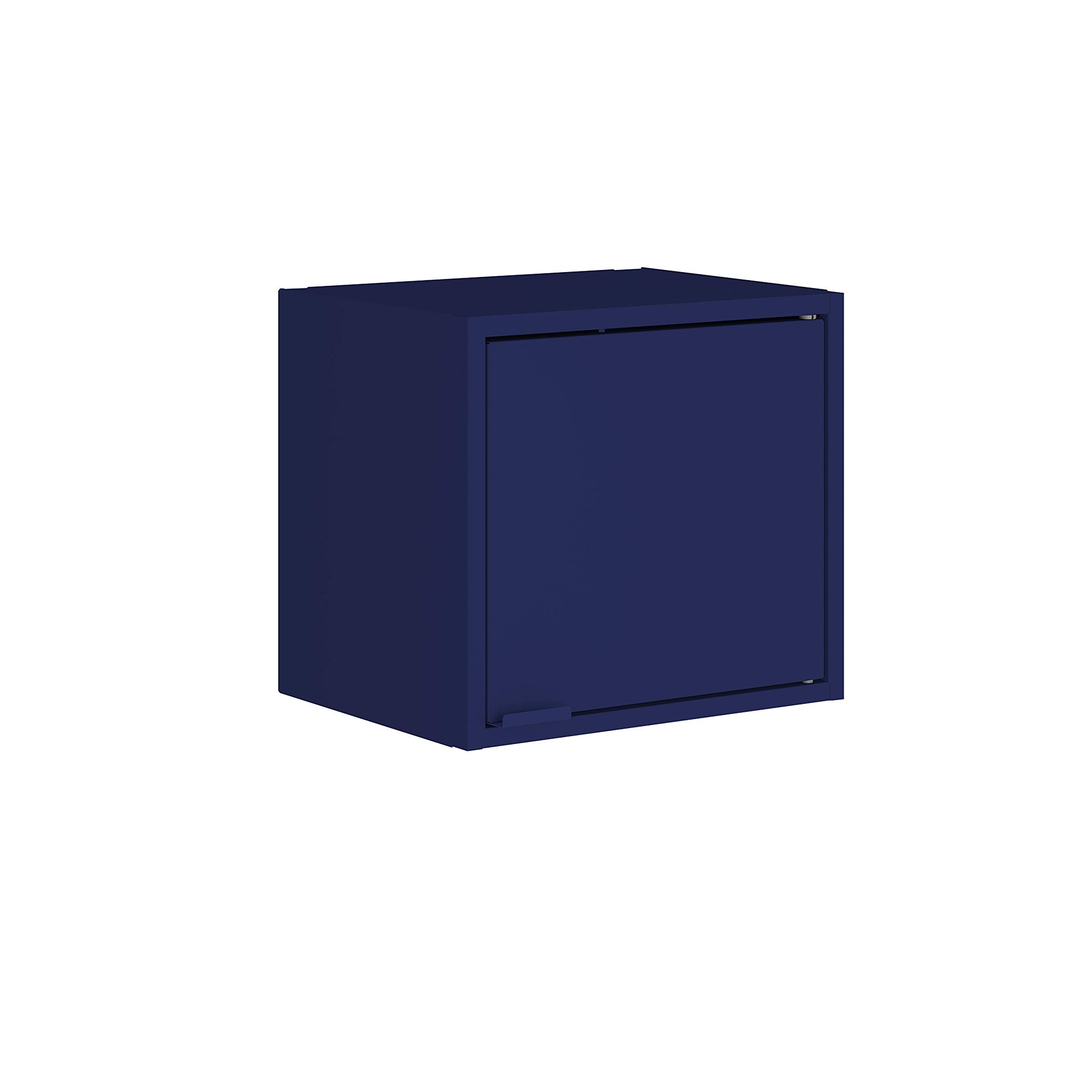 Manhattan Comfort Smart Modern Kitchen Floating Cube Cabinet Organizer, Blue