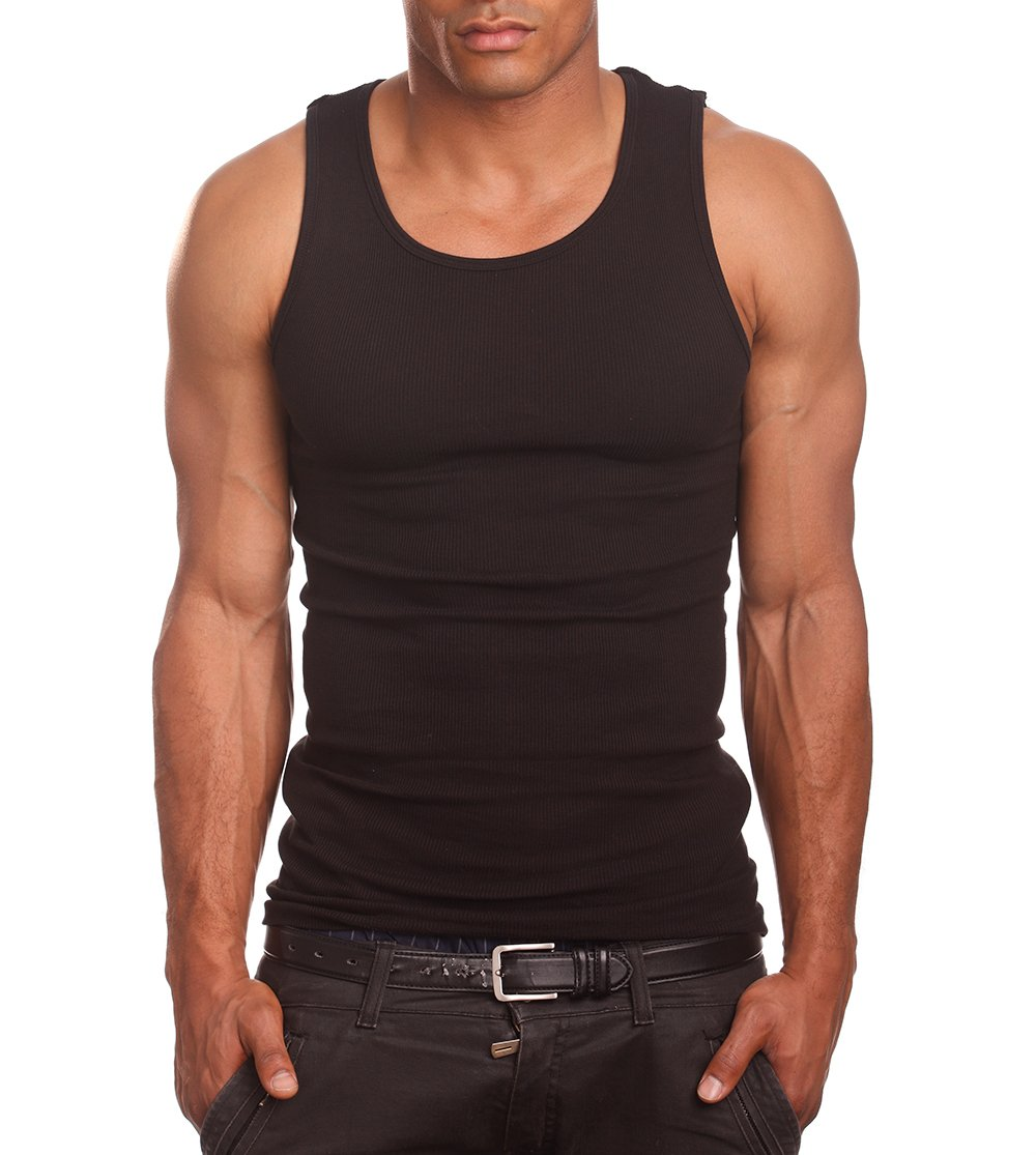 Mens A-Shirts 3 Pack Undershirt