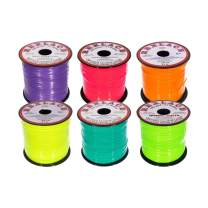 Craft County Rexlace Multicolor Bundle Packs – 100 Yards of Each Color (Neon)