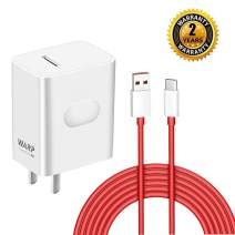 ChiChiFit OnePlus 7 pro Warp Charger,30W Quick Rapid Charge Power AC Wall Adapter [5V 6A] with USB-C Fast Charging Data Cable(3.3FT Compatible with OnePlus 7Pro/ 6T/ 6/ 5T/ 5/ 3T/ 3 (White)