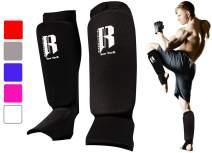 RIMSports Muay Thai Shin Guards Kickboxing - Premium MMA Shin Guards and Shin Pads - Ideal Shin Guard for Shin Protection, Wrestling, Sparring, Muay Thai, Kickboxing & Karate