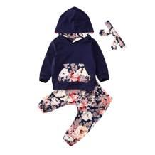 Newborn Baby Boy Girl Long Sleeve Deer Romper Pullover Hooded Tops Pants 2Pcs Sweatshirt Outfits Set