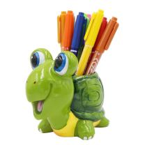 Exquisite Cute Resin Animal Pen Pencil Holder Storage Box Desk Organizer Accessories (Tortoise)