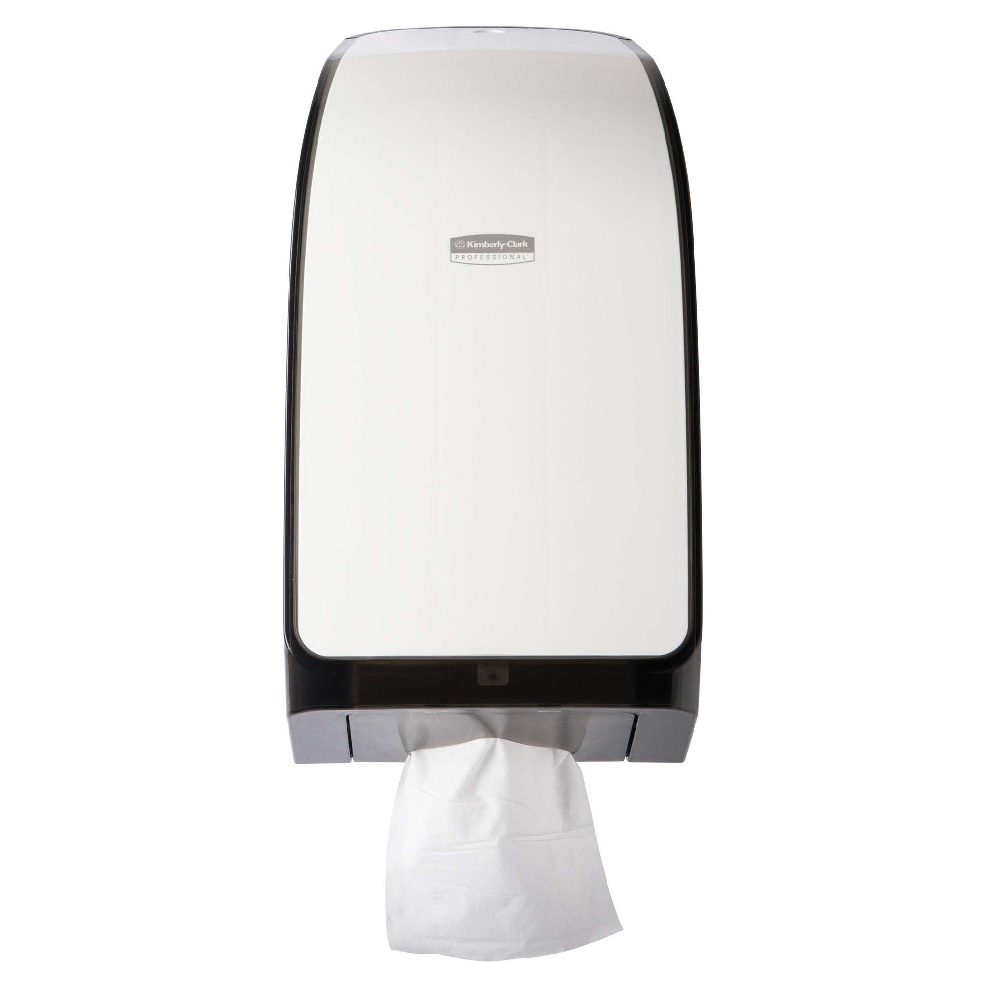 "Kimberly Clark Professional MOD Hygienic Bathroom Tissue Dispenser (40407), 7.0"" x 5.725"" x 13.339"", for Scott & Cottonelle Toilet Paper, White, 1 / Case"