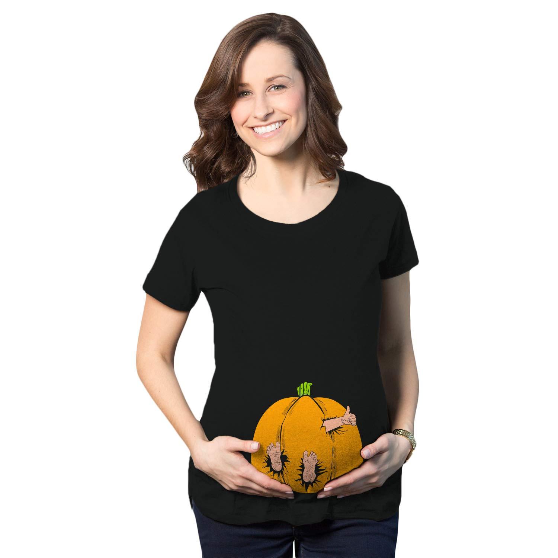 Maternity Pumpkin Baby Pregnancy Tshirt Cute Fall Halloween Jack O Lantern Tee