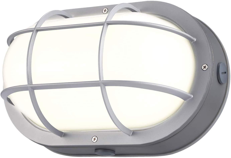 LEONLITE 20W LED Bulkhead Light, 12 Inch Marine Oval Outdoor Wall Lights, ETL & Energy Star Listed, 160W Eqv. Flush Mount Ceiling Lighting, 3000K Warm White, 1400lm, 5 Years Warranty