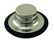 Westbrass InSinkErator Style Garbage Disposal Stopper, Polished Nickel, D209-05