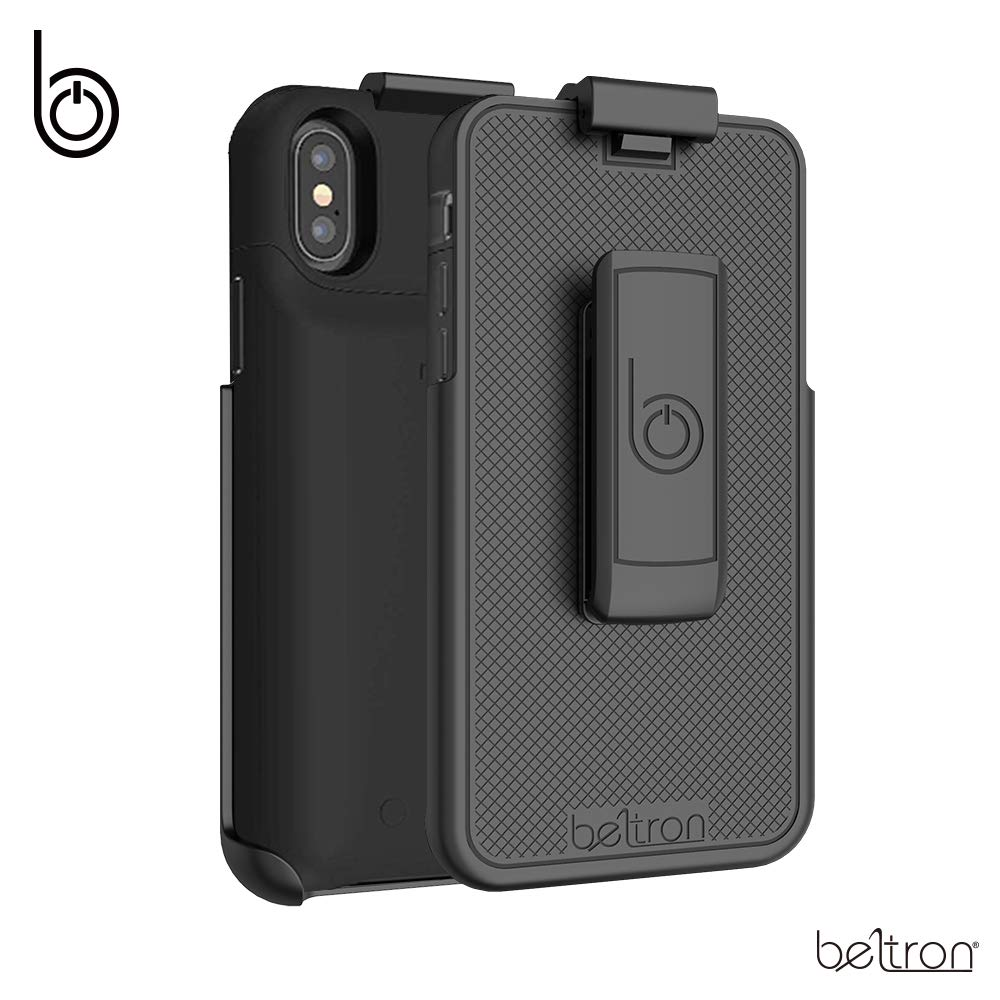 Belt Clip Holster Compatible with Mophie Juice Pack Air Protective Battery Case - iPhone X/iPhone Xs (mophie case is NOT Included)