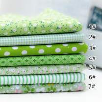 "JYRibbon 19.7"" x 19.7"" (50cm x 50cm) No Repeat Design Floral Printed 7 Flat Cotton Fabric for DIY Patchwork, Sewing Tissue to Patchwork, Quilting Squares Bundles (Green)"