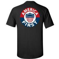 Gadsden and Culpeper America First T-Shirt - Black