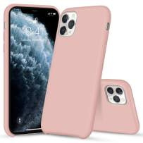 iMangoo iPhone 11 Pro Case, Liquid Silicone Case for iPhone 11 Pro 5.8inch Soft Microfiber Lining Cover Anti-Slip Gel Rubber Coating Protective Phone Case Shockproof Armor Slim Shell Baby Pink