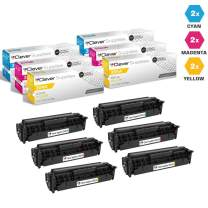 CS Compatible Toner Cartridge Replacement for HP PRO 400 Color M451DN CE411A Cyan CE412A Yellow CE413A Magenta HP 305A Laserjet PRO 300 Color M375NW M451 M451DN M451DW M451NW M475 M475DW 6 Color Set