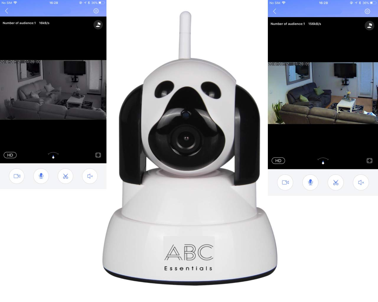 Video Baby Monitor - theWATCHDOG Best Video Camera for Child Kid Pet Monitor- Home/Office WiFi Surveillance Camera for iPhone/Android/Tablet/Computer w/Day/Night Vision 720P
