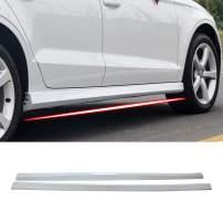 YONGERCAR Side Skirts Spoiler Body Fit for 2013-2020 Audi A3 Sedan Car Extension Splitter Glacier White PP