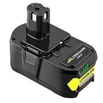 5000mAh P108 Replacement Battery for Ryobi One+, 18V Li-ion Battery for Ryobi One+ P104 P105 P102 P103 P107
