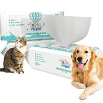 Umran Grooming Wipes for Dogs & Cats - 100% Natural, Earth-Friendly - Doggie Wipes for Paws, Body and Butt, Aloe Vera