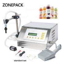 ZONEPACK Liquid Filling Machine Automatic Bottle Filler Digital Control Pump Numerical Drinks Water Milk 5ml to 3500ml GFK160 (Machine)