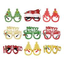 ABITONCC Christmas Decoration Glasses Frame Photo Props Christmas Party Supplies