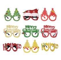 ABITONCC Christmas Decoration Glasses Frame Photo Props Christmas Party Supplies