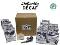 Tayst Decaf Coffee Pods   240 ct. Defiantly Decaf   100% Compostable Keurig K-Cup compatible   Gourmet Coffee in Earth Friendly packaging