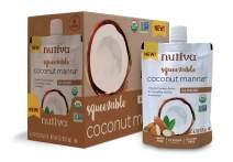 Nutiva Organic Coconut Manna, Almond, Squeezable 6.2-ounce Pouch (Pack of 6)
