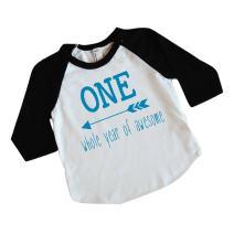 Boy First Birthday Shirt 1st Birthday Boy Outfit (Blue 12-18 Months)