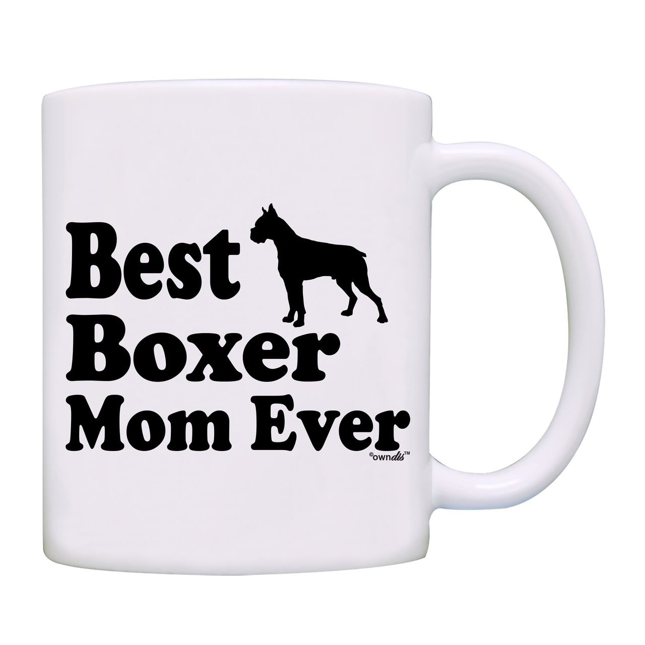 Mug Best Boxer Mom Ever Gift Coffee Mug-0082-White