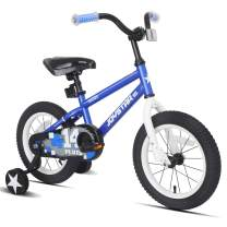 JOYSTAR Pluto Kids Bike with Training Wheels for 12 14 16 18 inch Bike, Kickstand for 18 inch Bike (Blue Red Orange)