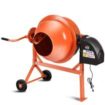 Goplus Electric Cement Concrete Mixer 1/2HP 2.2 Cubic Ft Barrow Machine for Mixing Mortar, Stucco and Seeds